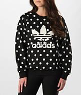Women's adidas Dots Allover Print Trefoil Crew Sweatshirt