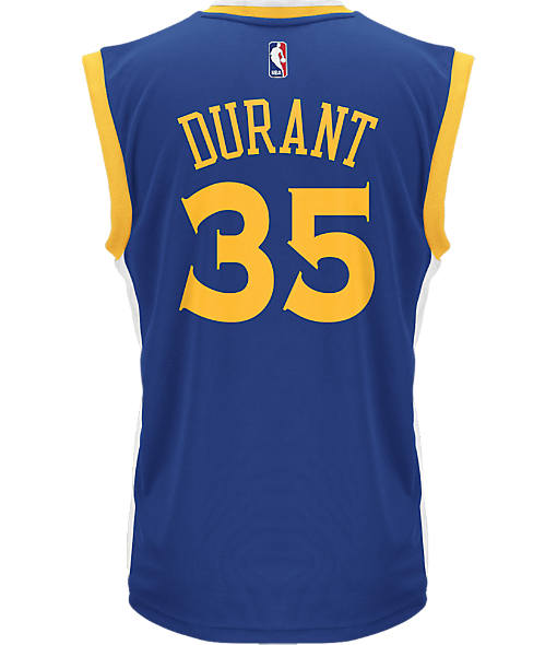 Men's adidas Golden State Warriors NBA Kevin Durant Replica Jersey