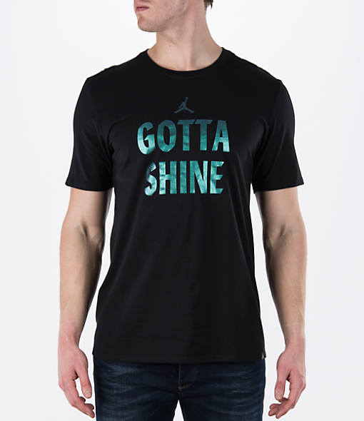Men's Air Jordan Gotta Shine Hologram T-Shirt