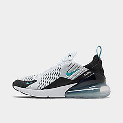 나이키 맨 Mens Nike Air Max 270 Casual Shoes,Black/White/Dusty Cactus