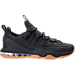 Right view of Men's Nike LeBron XIII Low Premium Basketball Shoes in Anthracite/Gum
