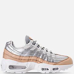 나이키 우먼에어맥스 95 스페셜 에디션 - 퓨어 플래티넘 / 메탈릭 실버 / 화이트 Womens Nike Air Max 95 Special Edition Casual Shoes, Pure Platinum/Metallic Silver/White