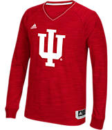 Men's adidas Indiana Hoosiers College Long Sleeve Shooter Shirt