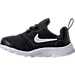 Left view of Boys' Toddler Nike Presto Fly Casual Shoes in Black/White