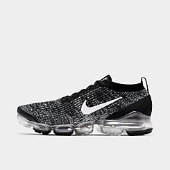 나이키 맨 Mens Nike Air VaporMax Flyknit 3 Running Shoes,Black/White/Metallic Silver