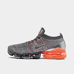 나이키 맨 Mens Nike Air VaporMax Flyknit 3 Running Shoes,Dark Grey/Metallic Silver/Atmosphere Grey