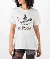 Women's adidas Originals Rita Ora Kimono Print Boyfriend T-Shirt