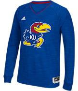 Men's adidas Kansas Jayhawks College Long Sleeve Shooter Shirt