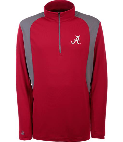 Men's Antigua Alabama Crimson Tide College Delta Quarter Zip Shirt