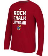 Men's adidas Kansas Jayhawks College Aeroknit Sideline Glory T-Shirt