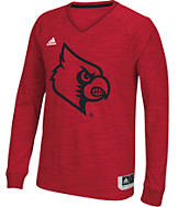 Men's adidas Louisville Cardinals College Long Sleeve Shooter Shirt