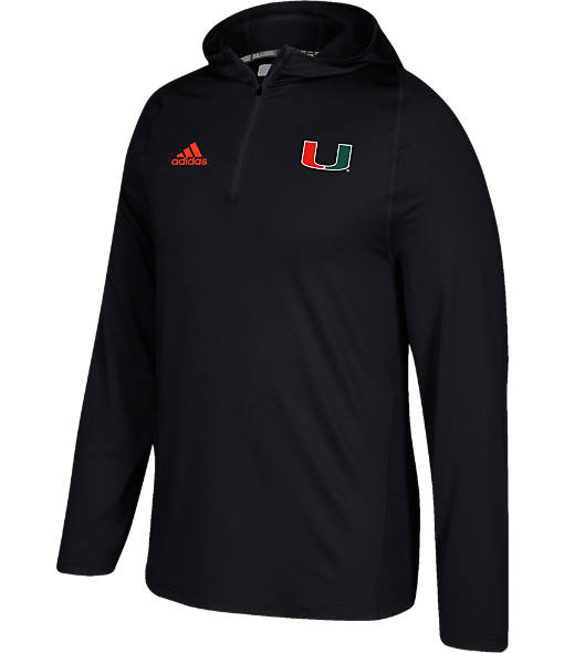 Men's adidas Miami Hurricanes College Sideline Training Hoodie