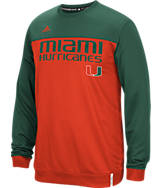 Men's adidas Miami Hurricanes College Shock Ply Crew Sweatshirt
