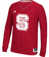 Men's adidas North Carolina State Wolfpack College Long Sleeve Shooter Shirt
