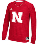 Men's adidas Nebraska Cornhuskers College Long Sleeve Shooter Shirt