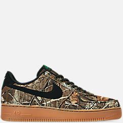 나이키 맨 Mens Nike Air Force 1 07 LV8 3 Casual Shoes,Black/Black/Aloe Verde/Gum Medium Brown