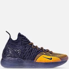 나이키 맨 Mens Nike Zoom KD11 Basketball Shoes,College Navy/University Gold