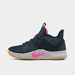 나이키 맨 Mens Nike PG 3 Basketball Shoes,Obsidian/Pink Blast/Wolf Grey