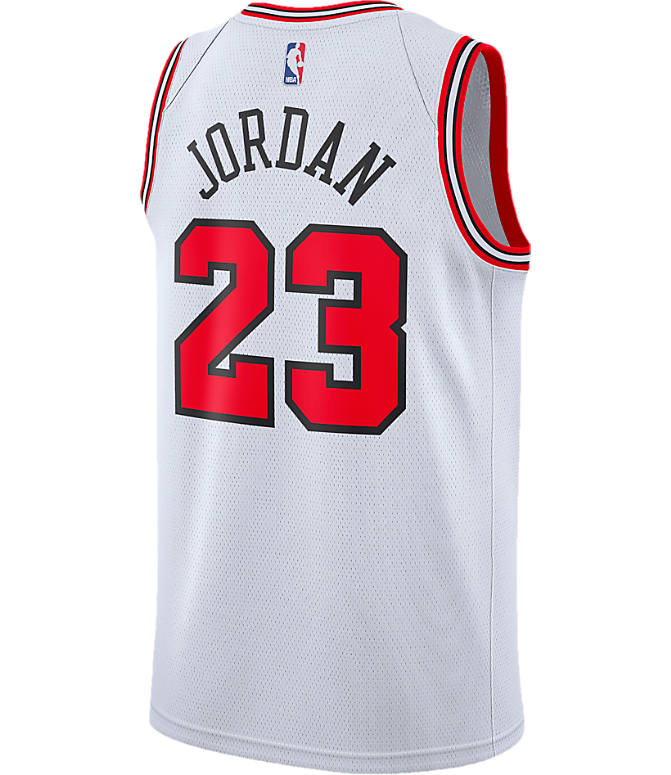 Front view of Men's Nike Chicago Bulls NBA Michael Jordan Association Edition Connected Jersey in White