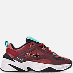 Womens 나이키 Nike M2K Tekno Casual Shoes,Mahogany Mink/Black/Burnt Orange