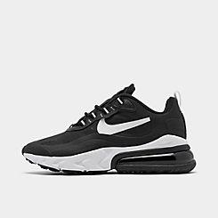 나이키 맨 Mens Nike Air Max 270 React Casual Shoes,Black/White/Black