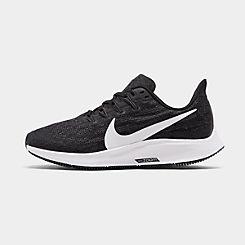 나이키 맨 Mens Nike Air Zoom Pegasus 36 Running Shoes,Black/White/Thunder Grey