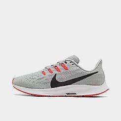 나이키 맨 Mens Nike Air Zoom Pegasus 36 Running Shoes,Wolf Grey/Black/White/Bright Crimson