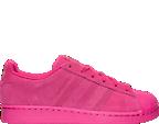 Girls' Grade School adidas Superstar Monochrome Casual Shoes