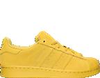 Boys' Grade School adidas Superstar Monochrome Casual Shoes