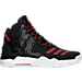 Right view of Boys' Grade School adidas D Rose 7 Basketball Shoes in Core Black/Scarlet Red