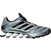 Right view of Men's adidas Springblade Ignite Running Shoes in Grey/Black/Solar Blue