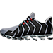 Left view of Men's Springblade Pro Running Shoes in Grey/Silver Metallic/Core Black