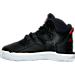 Left view of Boys' Toddler adidas D Rose 7 Basketball Shoes in Core Black/Scarlet Red