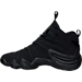 Left view of Men's adidas Crazy 8 Retro Basketball Shoes in Black/Black/Black