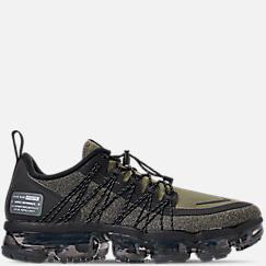 나이키 맨 Mens Nike Air VaporMax Run Utility Running Shoes,Medium Olive/Reflect Silver/Black