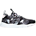 Right view of Women's Reebok Furylite Floral Print Casual Shoes in Black/Pink Floral