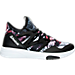 Right view of Women's Reebok Hayasu Casual Shoes in Black/White/Graphic