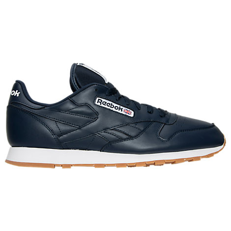 Reebok Classic Leather Gum Casual Mens Shoes (Collegiate Navy/White/Gum)