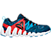 Right view of Boys' Preschool Reebok ZigTech Big & Fast Fire Running Shoes in Blue/Red/Navy