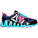 Right view of Girls' Preschool Reebok ZigTech Big & Fast Running Shoes in Black/Poison Pink/Purple/Blue