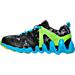 Left view of Boys' Preschool Reebok ZigTech Big & Fast Fire Running Shoes in Black/Lime/Blue