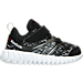 Right view of Boys' Toddler Reebok Twist Running Shoes in Black/Alloy Steel/White