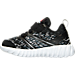 Left view of Boys' Toddler Reebok Twist Running Shoes in Black/Alloy Steel/White