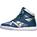 Left view of Girls' Preschool Reebok Street Stud Casual Shoes in BLU