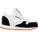 Right view of Boys' Toddler Reebok Classic Leather - Perfect Split Casual Shoes in WHT