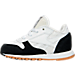Left view of Boys' Toddler Reebok Classic Leather - Perfect Split Casual Shoes in WHT