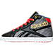 Left view of Boys' Preschool Reebok Marvel Iron Man Running Shoes in Red/Black/White