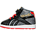 Left view of Boys' Toddler Reebok Marvel Iron Man Velcro Running Shoes in Ironman