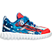 Right view of Boys' Toddler Reebok Twist Marvel Captain America Running Shoes in Captain America
