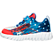Left view of Boys' Toddler Reebok Twist Marvel Captain America Running Shoes in Captain America